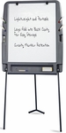 Portable Flipchart Easel with Dry Erase Surface - Charcoal [30227-ICE]