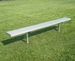 Portable Backless Player Bench with Steel Supports and Seat [BNP0701A-BIS]
