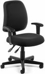 Posture Adjustable Height Task Chair with Arms - Black [118-2-AA-805-FS-MFO]