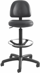 Precision 23'' H Extended Height Drafting Stool with Adjustable Foot Ring - Black Vinyl [3406BL-FS-SAF]