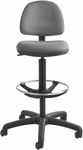 Precision Extended Height Chair with Foot Ring - Dark Gray [3401DG-FS-SAF]
