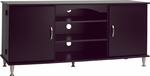 Premier 58''W Large Flat Panel Plasma/LCD TV Console with Media Storage - Black [BPS-6000-K-FS-PP]