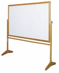 Premiere Series Reversible Mobile Markerboard - Wood Frame [LCS53-CLA]