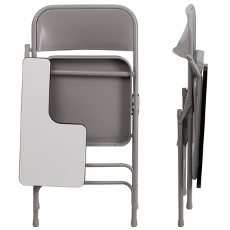 Premium Steel Folding Chair With Right Handed Tablet Arm HF 309AST RT GG By