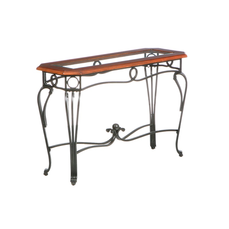 Prentice wood and metal 42 39 39 w x 28 39 39 h sofa table with for 42 sofa table
