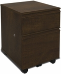 Prestige + Mobile Pedestal with Locking Drawers and Casters - Chocolate [99625-2169-FS-BS]