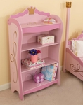 Princess Themed Wooden 42.5''H Bookcase with Three Shelves for Storage - Pink [76126-FS-KK]