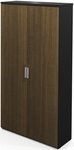 Pro-Concept 5 Shelf Armoire with Adjustable Shelving - Milk Chocolate Bamboo and Black [110716-1198-FS-BS]