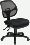 Pro-Line II Armless Ergonomic Task Chair with ProGrid® Back and Adjustable Contoured Seat - Black [2902-30-FS-OS]