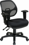 Pro-Line II Ergonomic Task Chair with ProGrid® Mesh Back and Adjustable Arms - Black [29024-30-FS-OS]