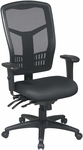 Pro-Line II ProGrid® Mesh High Back Chair with Adjustable Arms and Seat Slider - Black [92892-FS-OS]