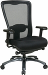 Pro-Line II ProGrid® Mesh High Back and Fabric Seat Task Chair with Seat Slider andSynchro Control - Black [97720-30-FS-OS]