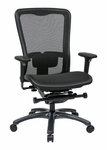 Pro-Line II ProGrid® Mesh High Back Office Chair with Adjustable Arms and Lumbar Support - Black [93720-FS-OS]
