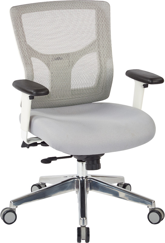 Grey Fabric Office Chair Degree Fully Adjustable Grey Fabric