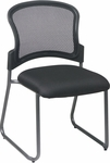 Pro-Line II Titanium Finish Visitors Stack Chair with ProGrid® Back and Sled Base - Black [86725-FS-OS]