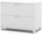 Pro-Linea Assembled Lateral File with Two Drawers - White [120636-1117-FS-BS]