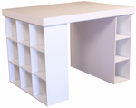 Project Center With 1 Bookcase & 3 Bin Cabinet [1151-FS-VH]
