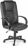 Promotional Leather High-Back Chair - Black [500-L-FS-MFO]