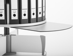 Moll Pull Out Work Surface for Floor Stand Carousel Shelving - White [CLPS-FS-EOS]