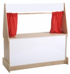 Birch Hardwood Puppet Theater with Dry-Erase Marquee and Presentation Boards [ELR-0695-ECR]