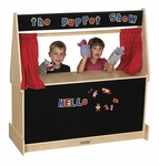 Birch Hardwood Puppet Theater with Flannel Marquee and Presentation Boards [ELR-0693-ECR]