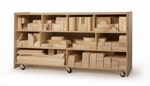 170 Piece Hardwood Quarter School Block Set with Rounded Edges and Natural Wood Finish [WB0372-FS-WBR]