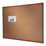 Quartet Bulletin Board - 6' x 4' - Light Cherry Frame [QRTB247LC-FS-SP]
