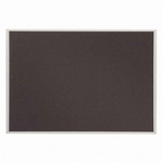 Quartet Bulletin Board -Woven Gray Fabric -23'' x 16'' -Mounts Vert./Horiz. [QRTB2316-FS-SP]
