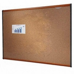 Quartet Colored Cork Bulletin Board with Light Cherry Frame [QRTB243LC-FS-SP]