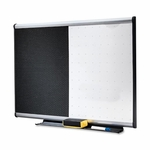 Quartet Combination Board - Mounting System withDry -erase Markers -3' x 2' [QRTBTE643A-FS-SP]