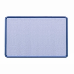 Quartet Fabric Covered Tack Board - 48'' x 36'' - Light Blue/Navy [QRT7694BE-FS-SP]