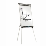 Quartet Magnetic Dry -erase Easel - Adjustable Height - 73''H - Silver [QRTEU500E-FS-SP]