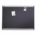 Quartet Magnetic Fabric Bulletin Board -withClips/Magnets -4' x 3' -AM [QRTMB544A-FS-SP]