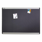 Quartet Magnetic Fabric Bulletin Board -withClips/Magnets -6'4' -AM [QRTMB547A-FS-SP]