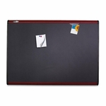 Quartet Magnetic Fabric Bulletin Board -withClips/Magnets -6' x 4' -MY [QRTMB547M-FS-SP]