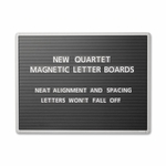 Quartet Message Board - Letter Size 3/4'' - Brd Dim 36'' x 24'' - Black [QRT903M-FS-SP]