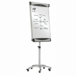 Quartet Total Erase Mobile Easel - with 5 Casters - 67'' x 77''H - Platinum [QRTEU2000TE-FS-SP]