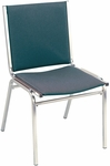 Quick Ship 400 Series Stacking Square Steel Frame Armless Hospitality Chair with Full Back and 1'' Upholstered Seat [410-QS-IFK]