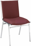 Quick Ship 400 Series Stacking Square Steel Frame Armless Hospitality Chair with Full Back and 2'' Upholstered Seat [420-QS-IFK]