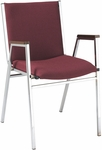 Quick Ship 400 Series Stacking Square Steel Frame Hospitality Armchair with Full Back and 2'' Upholstered Seat [421-QS-IFK]