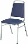 Quick Ship 800 Series Stacking Armless Hospitality Chair with Trapezoid Back and 1.5'' Upholstered Dome Seat [810-QS-IFK]