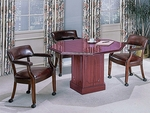 Bedford Traditional Octagonal Conference Table with Square Base - Mahogany [TR-TOCT48-FS-HPF]