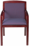 Quick Ship Contempo Fully Upholstered Back Arm Chair [9503-FS-HPF]