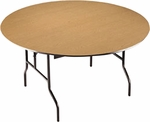 EF Series Quick Ship Plywood Core 60''Diameter Round Folding Table - 30''H [R60EF-MFT]