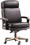 Quick Ship Leader Executive Chair with Wood Base [101W-FS-HPF]