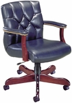 Quick Ship Quick Silver Management Swivel Chair with Tufted Back [4837-FS-HPF]