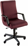 Quick Ship Scoop Executive Swivel Chair with Black Urethane Arms [1071-FS-HPF]