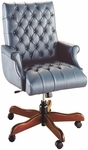 Quick Ship Scoop Traditional Executive Swivel Chair with Fully Upholstered Arms [4141-FS-HPF]