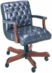 Quick Ship Scoop Traditional Management Swivel Chair with Platform Arms [4167-FS-HPF]