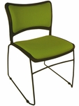 Quick Ship Stax Upholstered Seat and Back Stacking Chair [723SBC-HPF]
